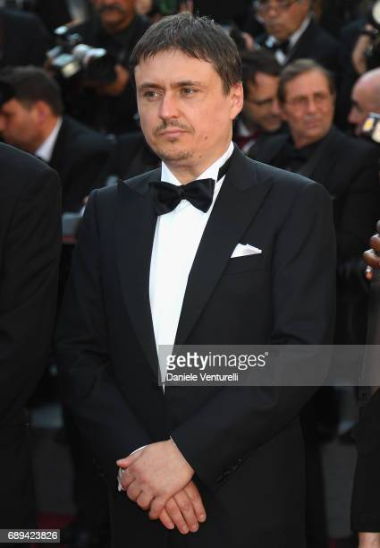 Cristian Mungiu attends the Closing Ceremony during the 70th annual Cannes Film Festival at Palais des Festivals on May 28 2017 in Cannes France