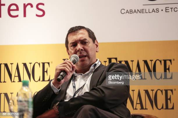 Cristian Ocampo Province of Chaco's finance minister speaks during the Argentina SubSovereign and Infrastructure Finance Summit in Buenos Aires...