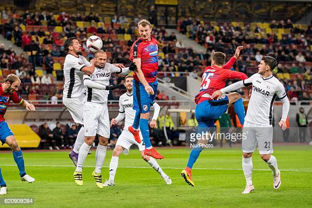 Cristian Oros of FC Astra Giurgiu during the UEFA Europa League 20162017 Group E game between FC Astra Giurgiu and FC Viktoria Plzen at National...