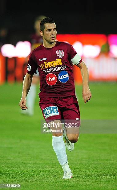 Cristian Panin of CFR 1907 Cluj in action during the Romanian Liga 1 match between CFR 1907 Cluj and FC Steaua Bucuresti held on May 20 2012 at the...