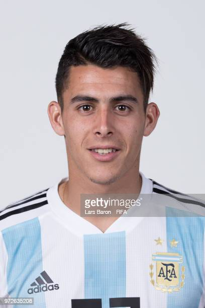 Cristian Pavon of Argentina poses for a portrait during the official FIFA World Cup 2018 portrait session on June 12 2018 in Moscow Russia
