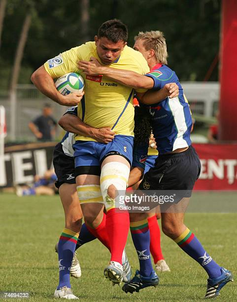Cristian Petre of Romania in action during the IRB Nations Cup match between Romania and Namibia held at the Tineretului Stadium June 16 2007 in...