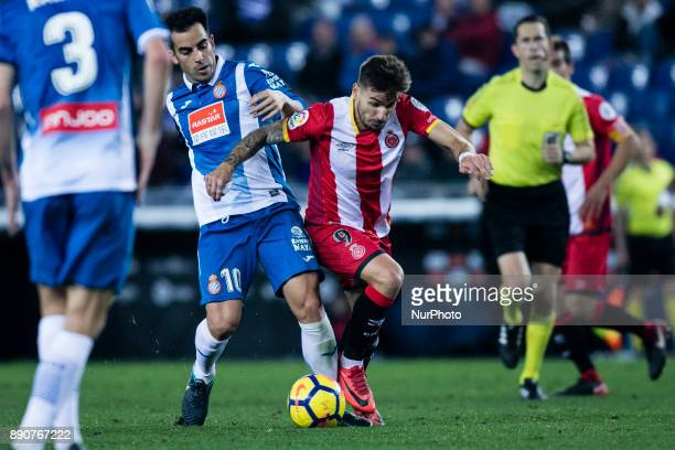 09 Cristian Portu from Spain of Girona FC during the La Liga match between RCD Espanyol v Girona FC at RCD Stadium on December 11 2017 in Barcelona...