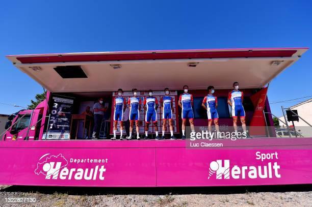 Cristian Rodríguez Martin of Spain, Alexandre Geniez of France, Jeremy Cabot of France, Marlon Gaillard of France, Valentin Ferron of France, Fabien...