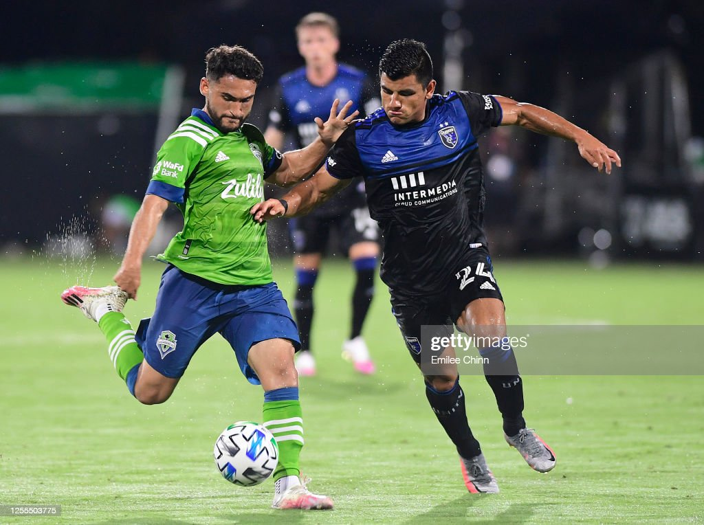 Seattle Sounders FC v San Jose Earthquakes - MLS Is Back Tournament : News Photo