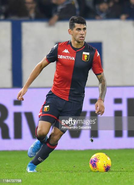 Cristian Romero of Genoa CFC in action during the Serie A match between SPAL and Genoa CFC at Stadio Paolo Mazza on November 25 2019 in Ferrara Italy