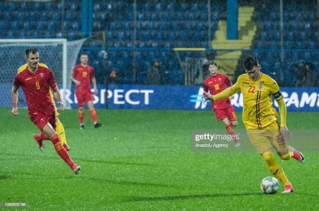 UEFA Nations League - Montenegro v Romania : News Photo