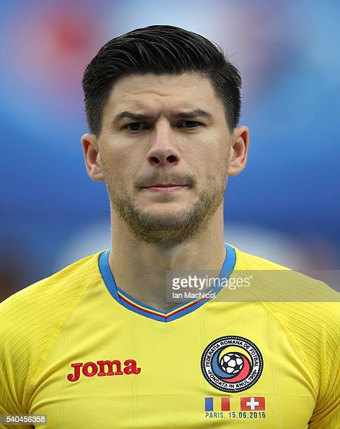 Cristian Sapunaru of Romania looks on during the UEFA EURO 2016 Group A match between Romania and Switzerland at Parc des Princes on June 15 2016 in...