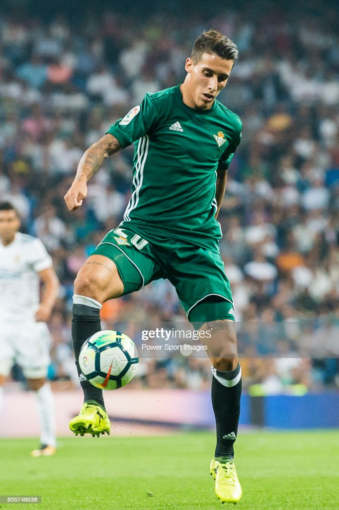 Cristian Tello Herrera Of Real Betis In Action During The La Liga 2017 18 Match