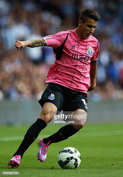 Cristian Tello of FC Porto in action during the Pre Season Friendly match between West Bromwich Albion and FC Porto at The Hawthorns on August 9 2014...
