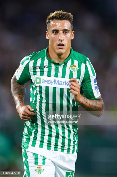 Cristian Tello of Real Betis Balompie looks on during the Liga match between Real Betis Balompie and Real Valladolid CF at Estadio Benito Villamarin...