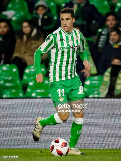 Cristian Tello of Real Betis during the Spanish Copa del Rey match between Real Betis Sevilla v Real Sociedad at the Estadio Benito Villamarin on...