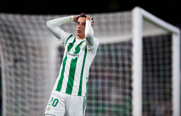 Cristian Tello Of Real Betis Reacts During The Copa Del Rey Round 32