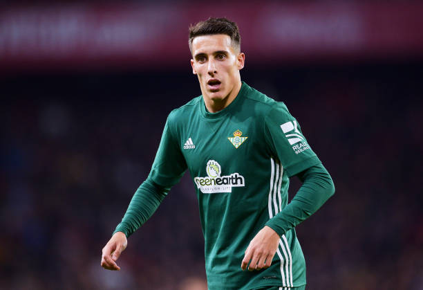 Cristian Tello Of Real Betis Reacts During The La Liga Match Between Sevilla FC And