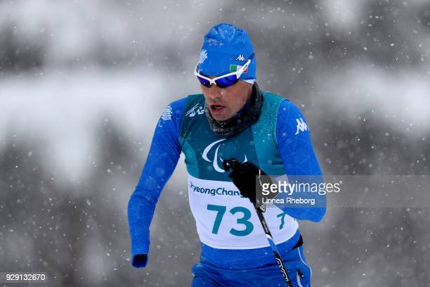 Cristian Toninelli of Italy in action during a training session ahead of the PyeongChang 2018 Paralympic Games on March 8 2018 in Pyeongchanggun...