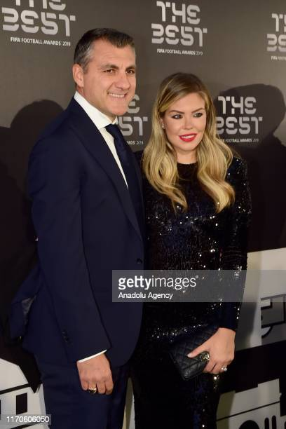 Cristian Vieri and Costanza Caracciolo arrive on the Green Carpet ahead of The Best FIFA Football Awards at Teatro alla Scala on September 23 2019 in...