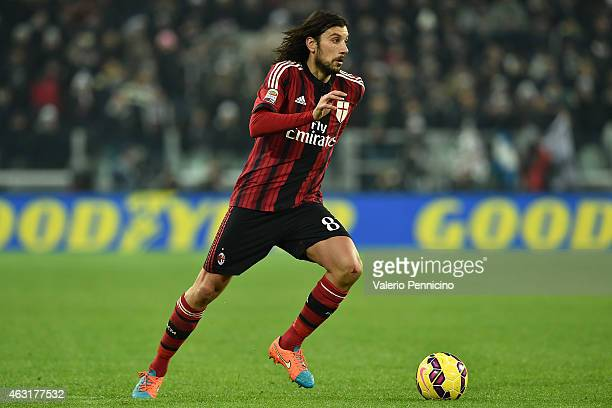 Cristian Zaccardo of AC Milan in action during the Serie A match between Juventus FC and AC Milan at Juventus Arena on February 7 2015 in Turin Italy
