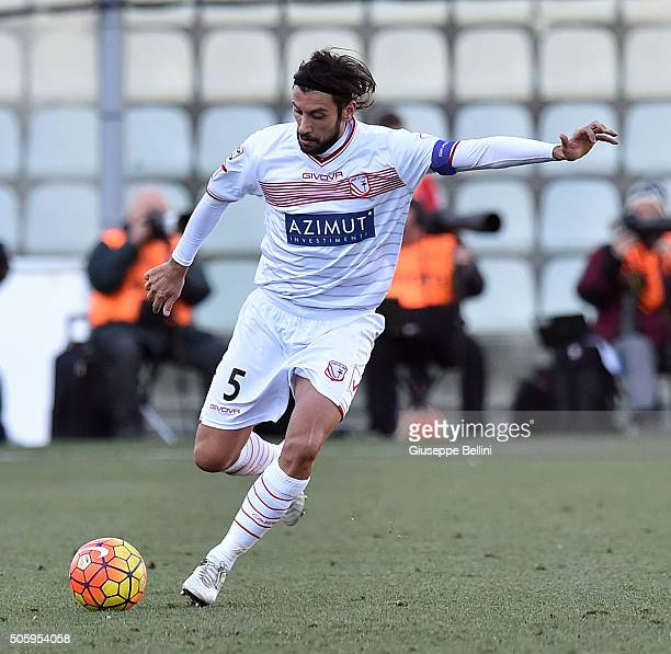 Cristian Zaccardo of Carpi FC in action during the Serie A match between Carpi FC v UC Sampdoria at Alberto Braglia Stadium on January 17 2016 in...