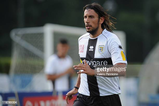 Cristian Zaccardo of FC Parma looks on during a preseason friendly match between FC Parma and Rappesentativa Levico on July 16 2011 in Levico Terme...