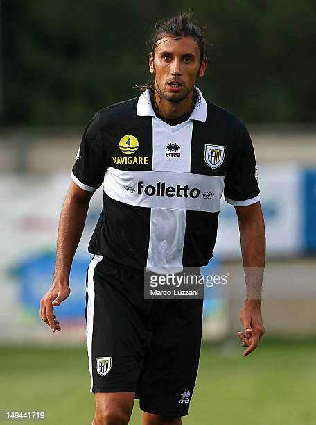 Cristian Zaccardo of FC Parma looks on during a preseason friendly match between Parma FC and AS Varese on July 28 2012 in Levico Terme near Trento...