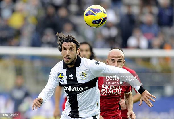 Cristian Zaccardo of Parma FC during the Serie A match between Parma FC and AC Siena at Stadio Ennio Tardini on November 11 2012 in Parma Italy