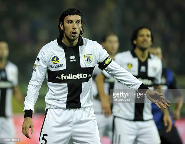 Cristian Zaccardo of Parma FC during the Serie A match between Parma FC and FC Internazionale Milano at Stadio Ennio Tardini on November 26 2012 in...