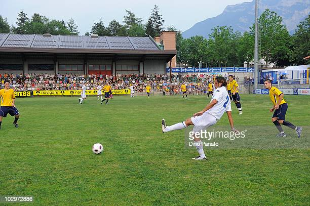 Cristian Zaccardo of Parma in action during the pre season friendly match betwen Parma and Levico on July 17 2010 in Levico near Trento Italy