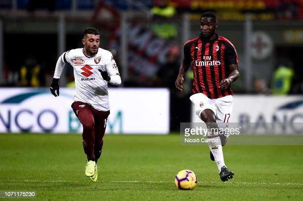 Cristian Zapata of AC Milan in action during the Serie A football match between AC Milan and Torino FC The match ended in a 00 tie