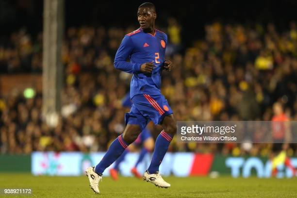 Cristian Zapata of Colombia during the International Friendly match between Australia and Colombia at Craven Cottage on March 27 2018 in London...
