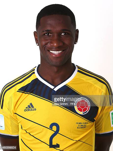 Cristian Zapata of Colombia poses during the official FIFA World Cup 2014 portrait session on June 9 2014 in Sao Paulo Brazil