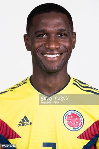 Cristian Zapata of Colombia poses for a portrait during the official FIFA World Cup 2018 portrait session at Kazan Ski Resort on June 13 2018 in...