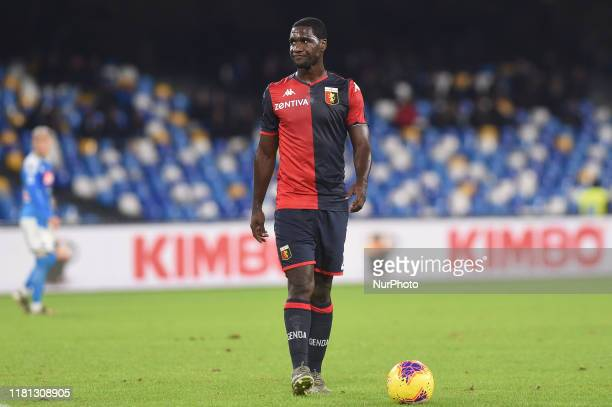 Cristian Zapata of Genoa CFC during the Serie A match between SSC Napoli and Genoa CFC at Stadio San Paolo Naples Italy on 9 November 2019.