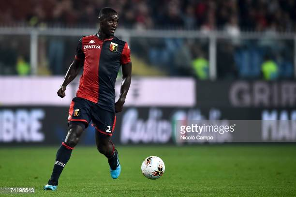 Cristian Zapata of Genoa CFC in action during the Serie A football match between Genoa CFC and AC Milan. AC Milan won 2-1 over Genoa CFC.