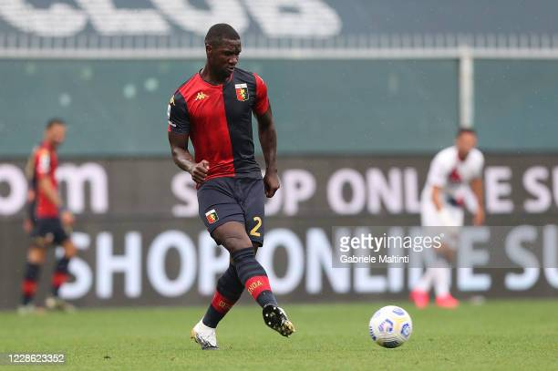 Cristian Zapata of Genoa CFC in action during the Serie A match between Genoa CFC and FC Crotone at Stadio Luigi Ferraris on September 20, 2020 in...