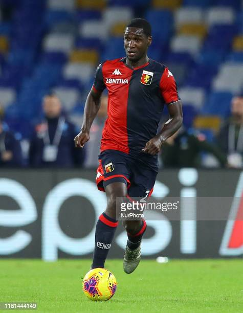 Cristian Zapata of Genoa during the Serie A match Napoli v Genoa at the San Paolo Stadium in Naples, Italy on November 9, 2019