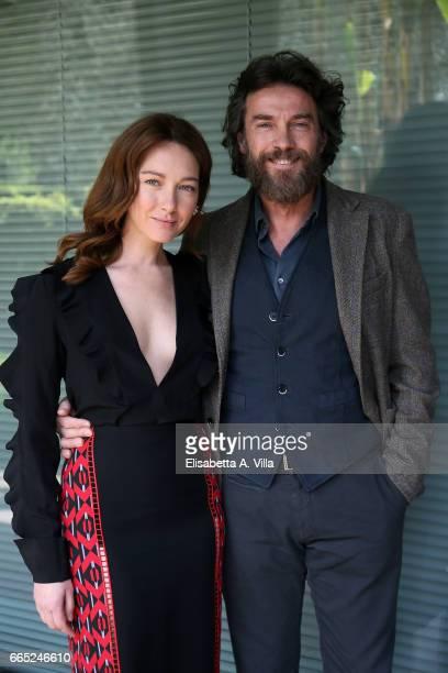 Cristiana Capotondi and Alessio Boni attend a photocall for 'Di Padre In Figlia' at Rai Viale Mazzini on April 6 2017 in Rome Italy