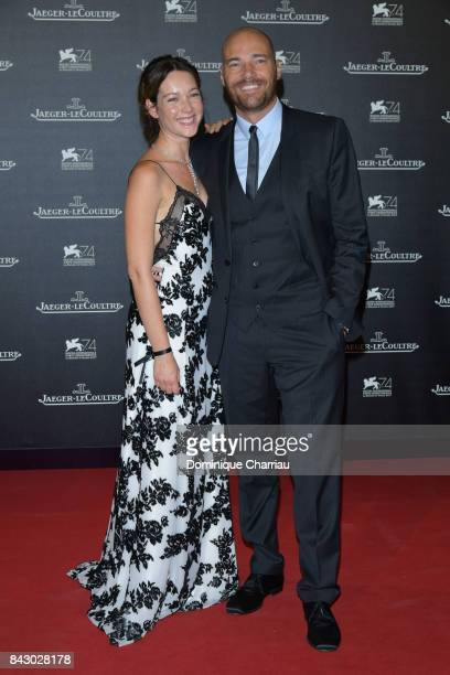 Cristiana Capotondi and Andrea Pezzi arrive for the JaegerLeCoultre Gala Dinner during the 74th Venice International Film Festival at Arsenale on...