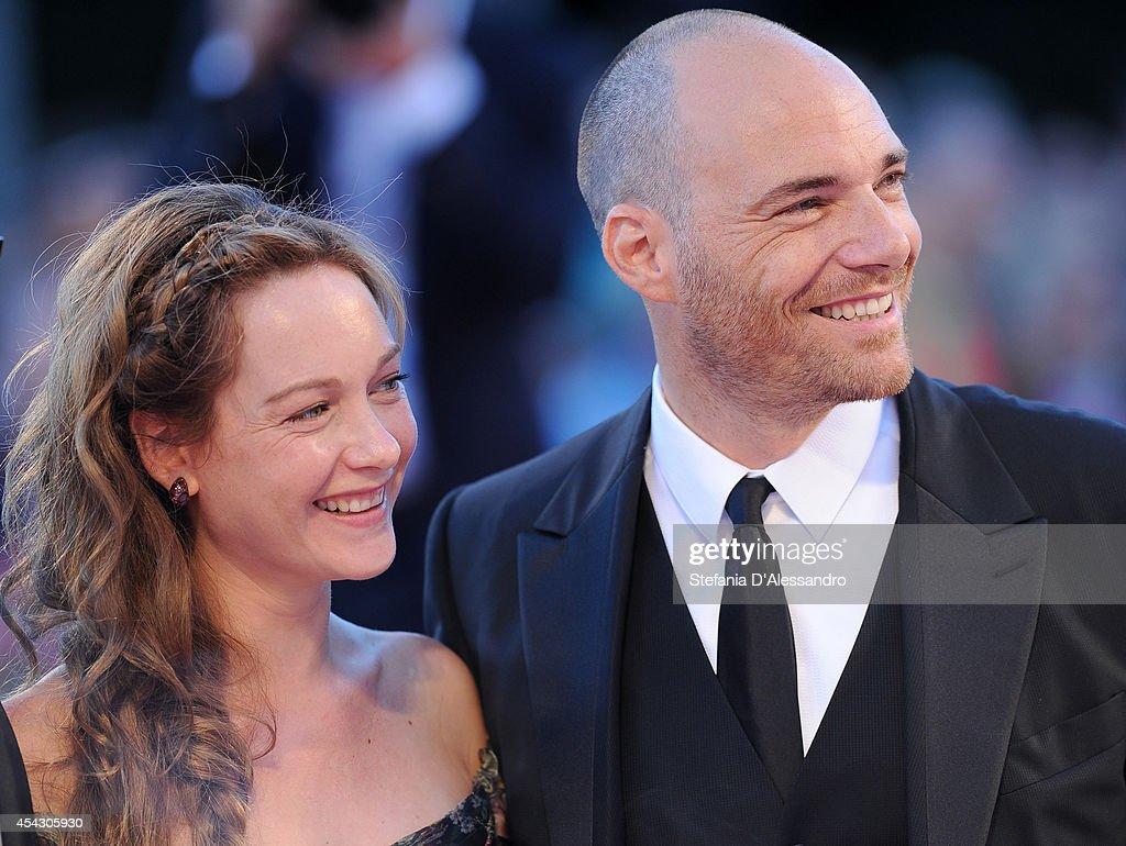 Cristiana Capotondi and Andrea Pezzi attend the 'La Rancon De La Gloire' premiere during the 71st Venice Film Festival on August 28, 2014 in Venice, Italy.