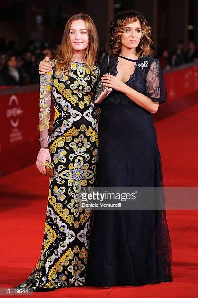 """Cristiana Capotondi and Valeria Golino attends the """"La Kryptonite Nella Borsa"""" Premiere during the 6th International Rome Film Festival at Auditorium..."""