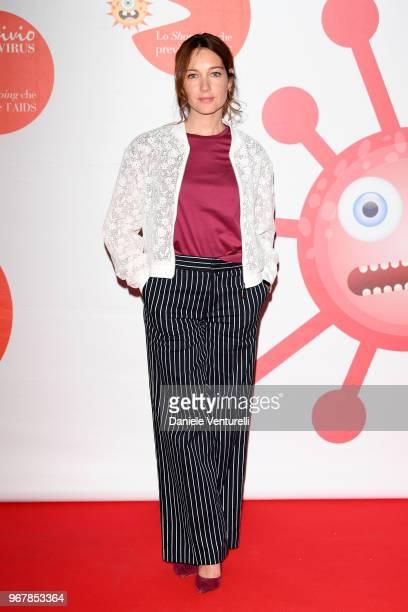 Cristiana Capotondi attends Convivio photocall on June 5 2018 in Milan Italy