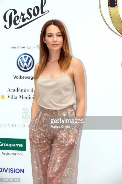 Cristiana Capotondi attends Globi D'Oro awards ceremony at the Academie de France Villa Medici on June 13 2018 in Rome Italy