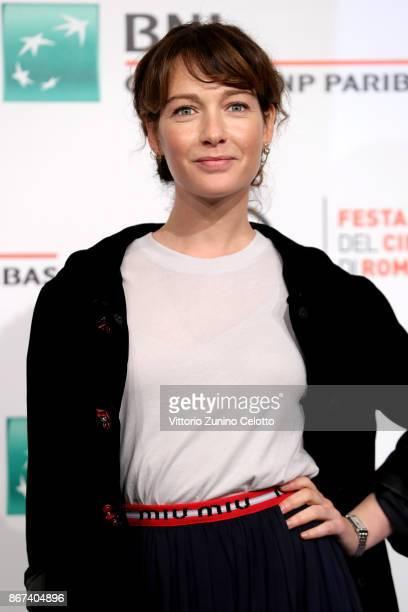 Cristiana Capotondi attends 'Metti Una Notte' photocall during the 12th Rome Film Fest at Auditorium Parco Della Musica on October 28 2017 in Rome...
