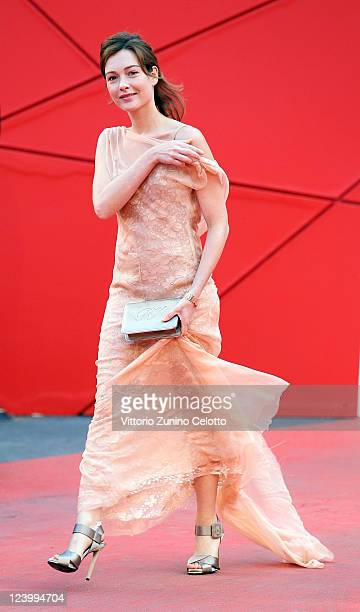 Cristiana Capotondi attends the 'Quando La Notte' premiere during the 68th Venice Film Festival at Palazzo del Cinema on September 7 2011 in Venice...
