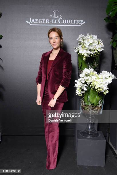 """Cristiana Capotondi attends the RendezVous Sonatina celebrating """"Peaceful Nature"""" by Jaeger LeCoultre on October 10 2019 in Milan Italy"""