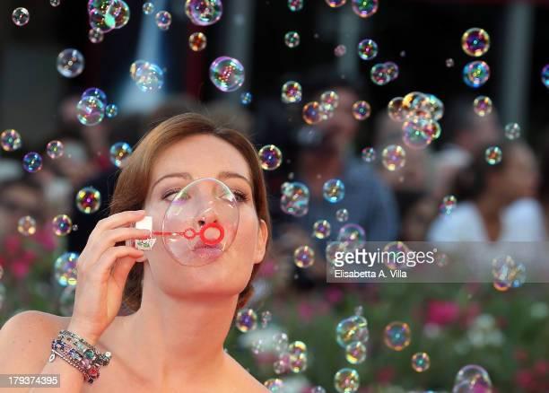 Cristiana Capotondi attends 'The Zero Theorem' Premiere during the 70th Venice International Film Festival at the Palazzo del Cinema on September 2,...
