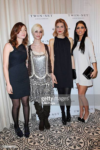 Cristiana Capotondi, Francesca Inaudi, Claudia Zanella and Yolanthe Sneijder Cabau attend the Twin Set Cocktail Party as part of Milan Fashion Week...