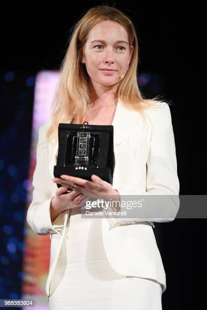 Cristiana Capotondi is awarded during the Nastri D'Argento Award Ceremony on June 30 2018 in Taormina Italy
