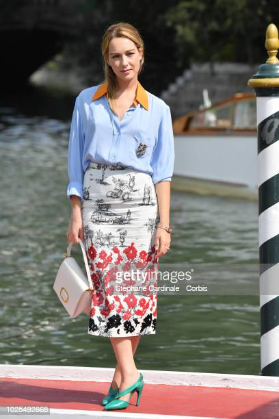 Cristiana Capotondi is seen arriving at the 75th Venice Film Festival on August 31 2018 in Venice Italy