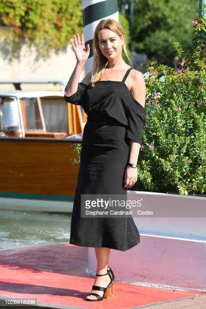 Cristiana Capotondi is seen arriving at the 75th Venice Film Festival on September 4 2018 in Venice Italy