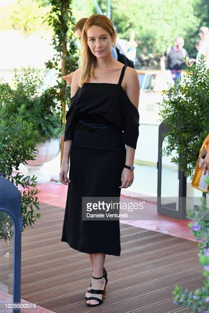 Cristiana Capotondi is seen during the 75th Venice Film Festival on September 4 2018 in Venice Italy